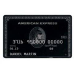 Musta American Express